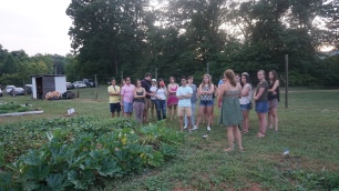 Garden tours lead by MKG summer interns