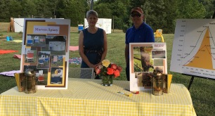 Beekeepers Paul and Leslie share information about the hives and honey